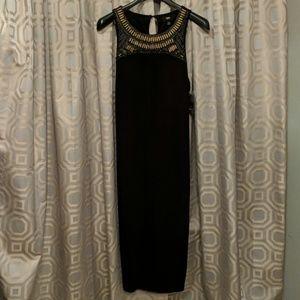 Beaded Sleeveless Black Mossimo dress